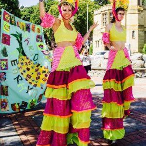 Carmen & Miranda stilt walkers